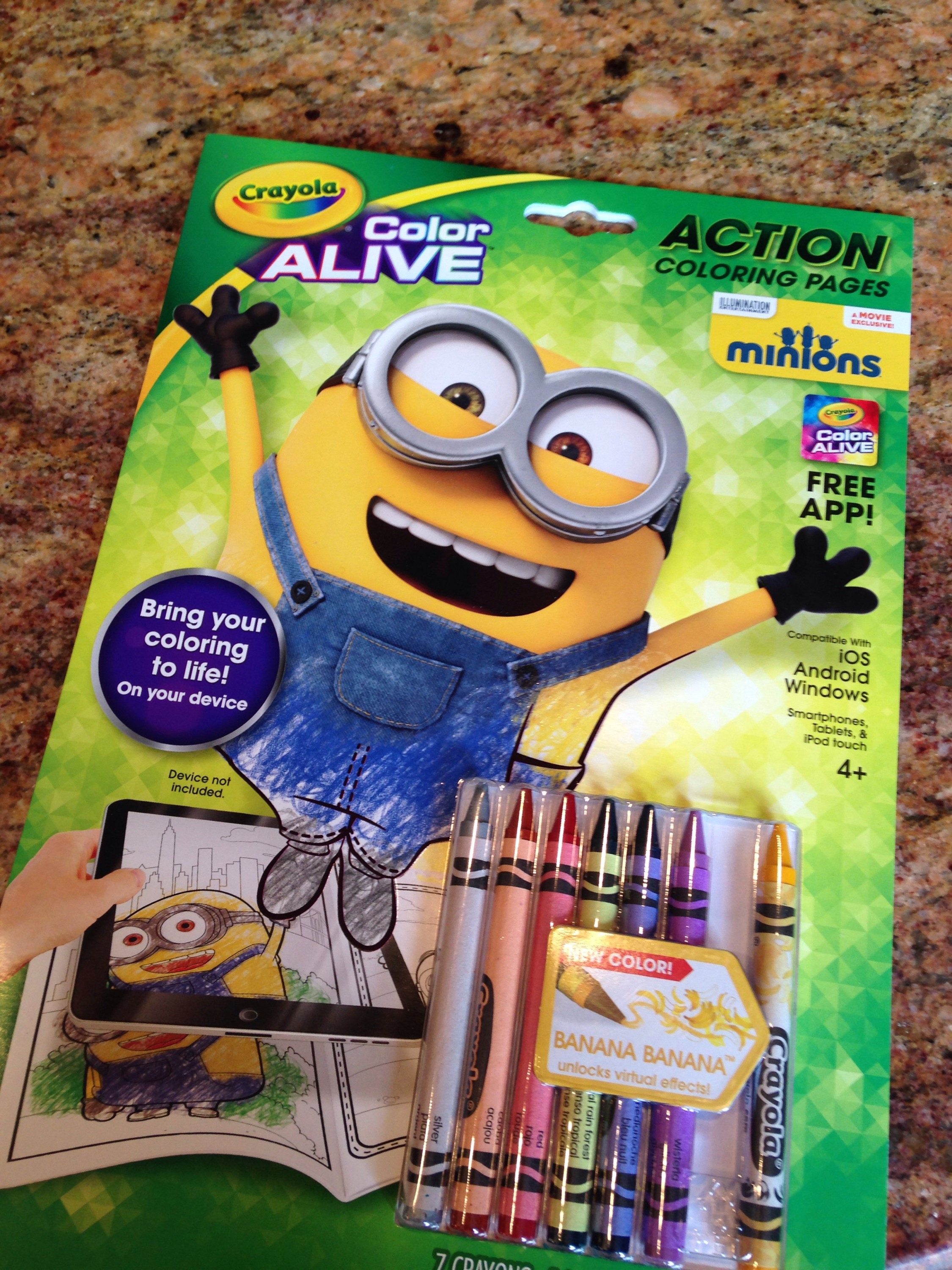 thanks to crayola for sending us the latest minions gear to facilitate our review as always all thoughts and opinions are our own - Crayola Color Alive Pages Minions