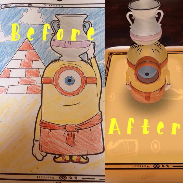 Minions come to life with the free crayola app classy mommy for Crayola color alive coloring pages