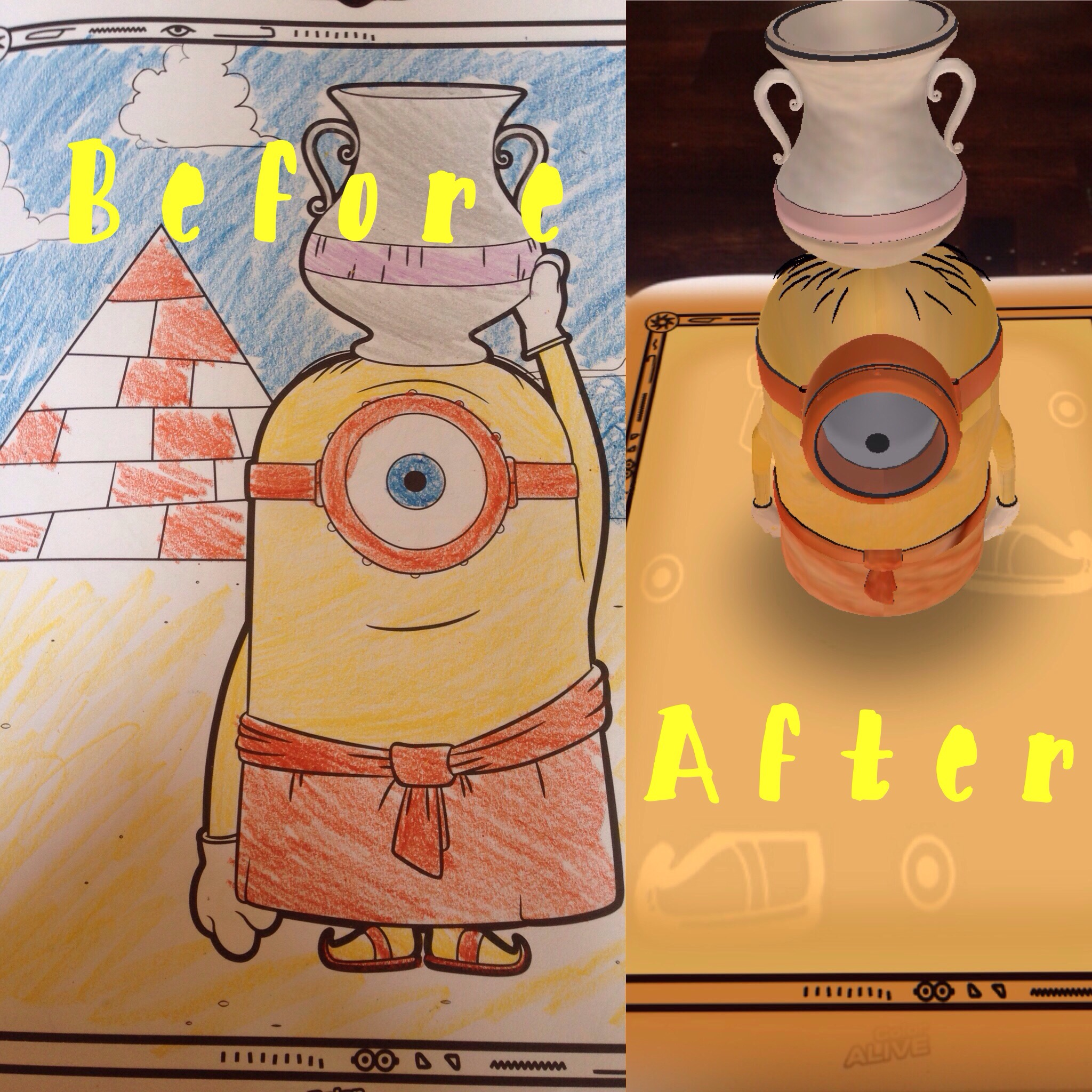 Minions come to life with the free Crayola App - Classy Mommy