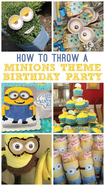 How to throw a Minions theme birthday party