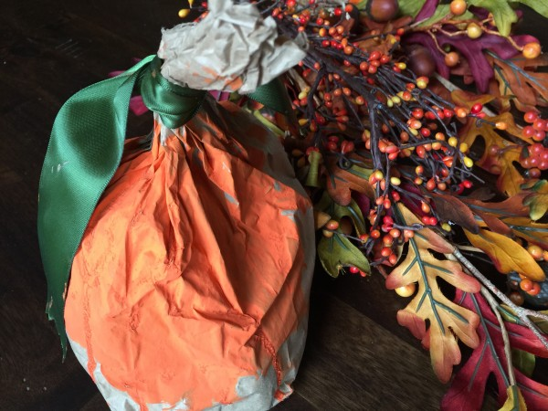 Super Easy Paper Bag Pumpkin craft