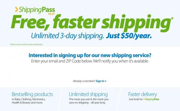 shipping pass Walmart Logo