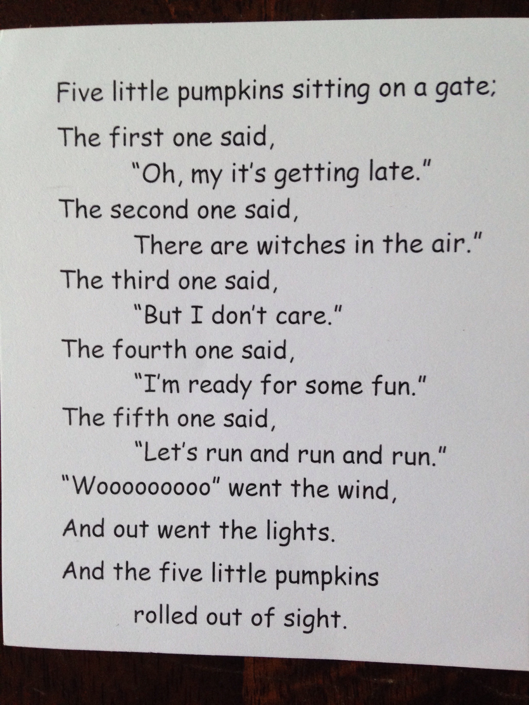photo about Five Little Pumpkins Poem Printable named 5 Minor Pumpkins Poem and Crafts - Cly Mommy