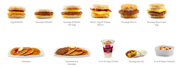 McDonald's Menu All Day Breakfast