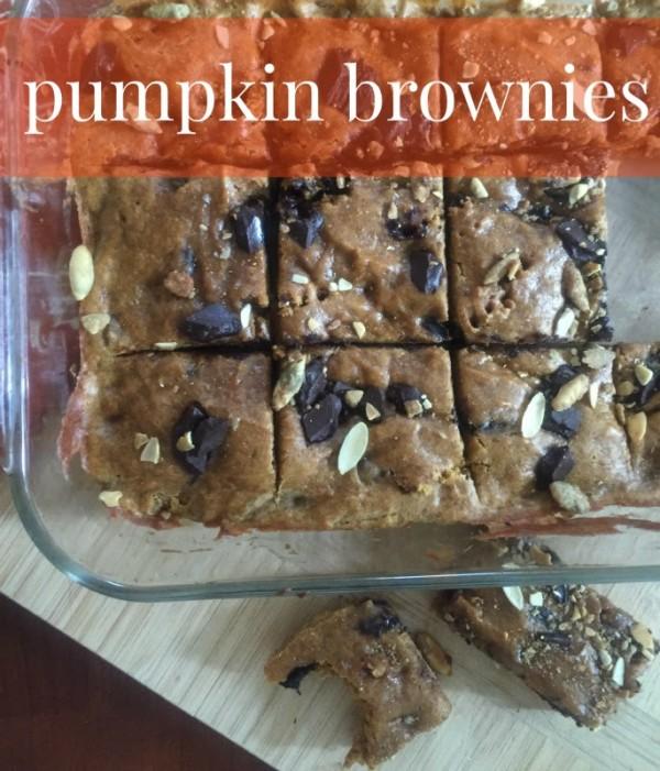 Pumpkin Brownies Recipe