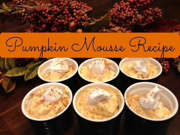 My Favorite Gluten Free Thanksgiving Recipe Pumpkin Mousse #StraightTalkTesters