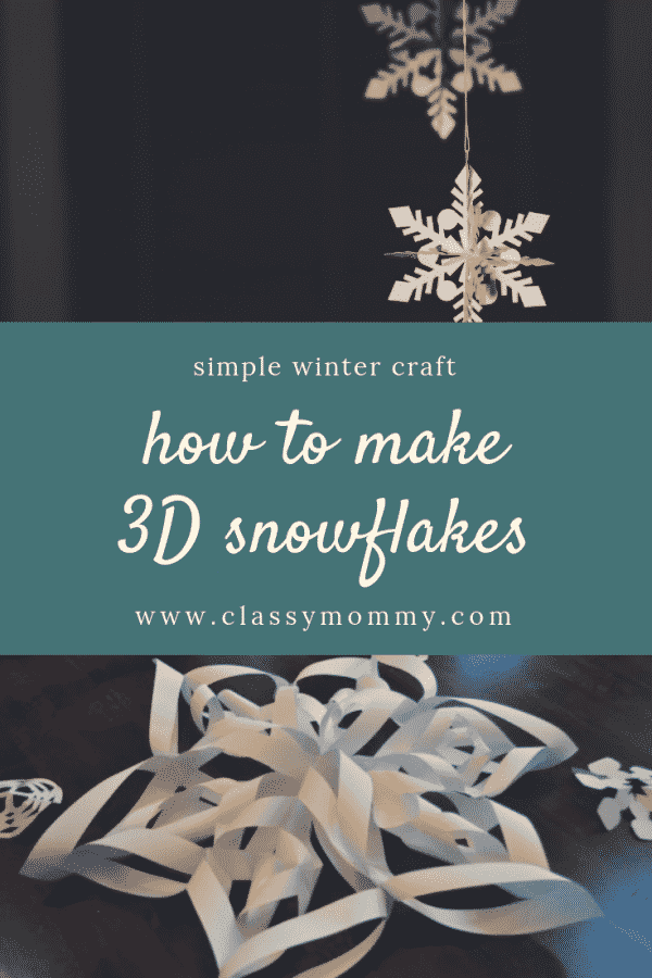 How to Make 3D Snowflakes