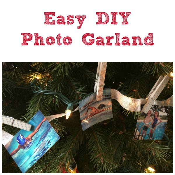 How to Make Simple and Easy DIY Photo Garland for Gifts via ClassyMommy
