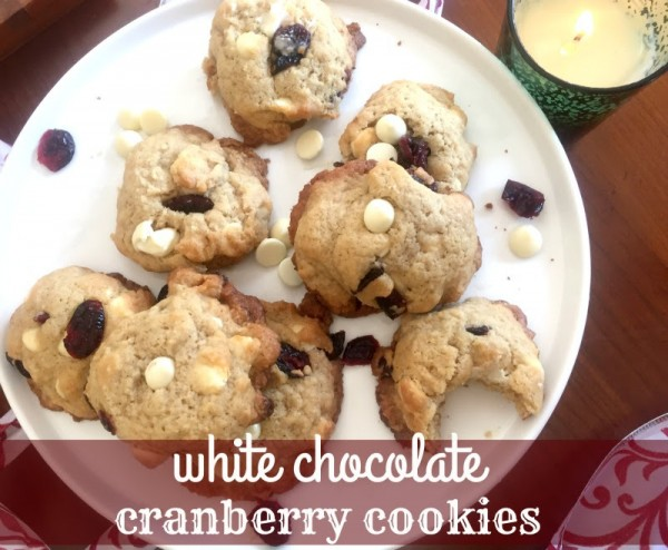 White Chocolate Cran Cookies