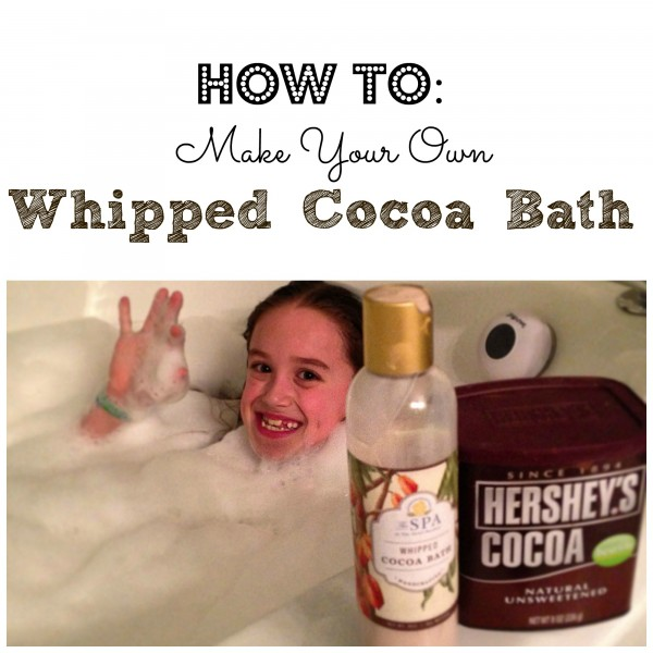How To Make Your Own Whipped Cocoa Bath at Home easy instructions via ClassyMommy