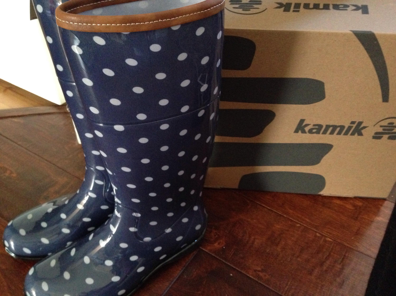 Women S And Children S Polka Dot Rain Boots From Kamik