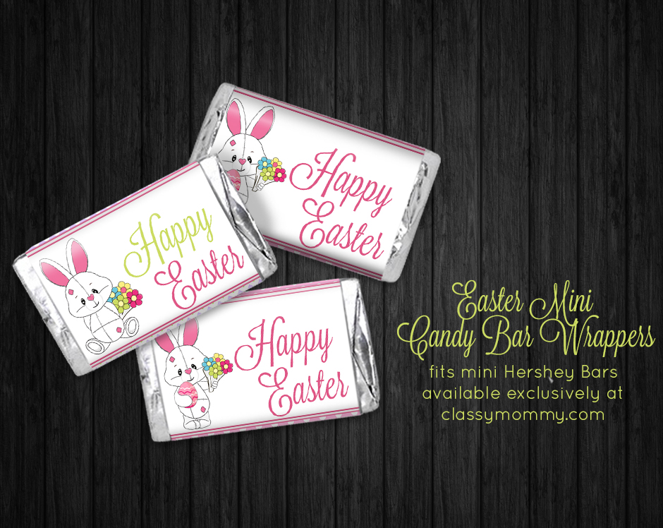 Free Printable Easter Candy Bar Wrappers Classy Mommy