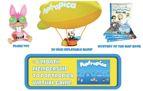 Poptropica Givewaway Prize package