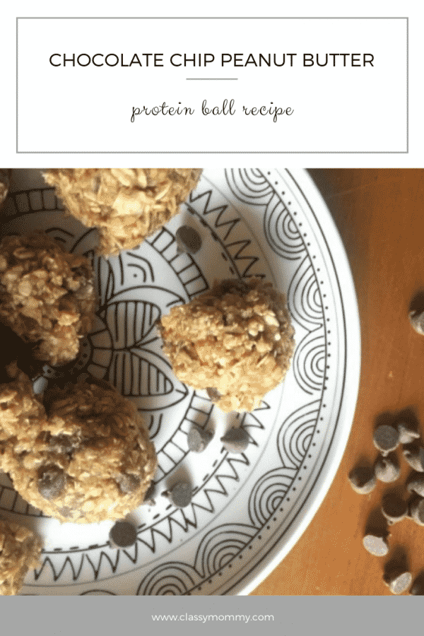 Chocolate Chip Peanut Butter Protein Balls Recipe