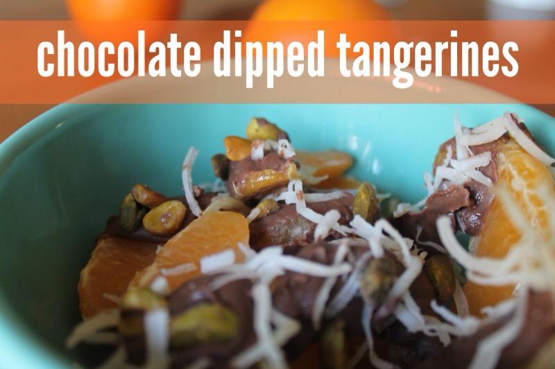 chocolate dipped tangerines recipe