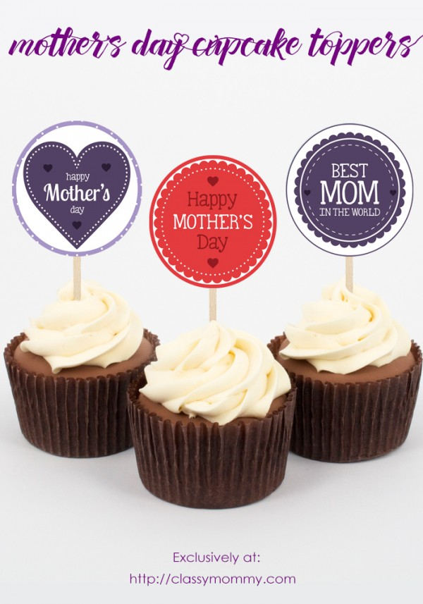 free printable mother 39 s day cupcake toppers classy mommy. Black Bedroom Furniture Sets. Home Design Ideas