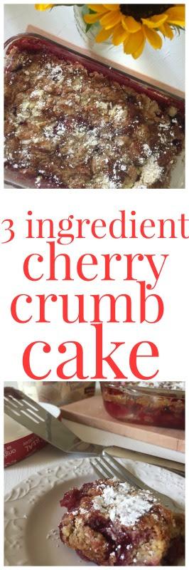 3 ing cherry crumb cake