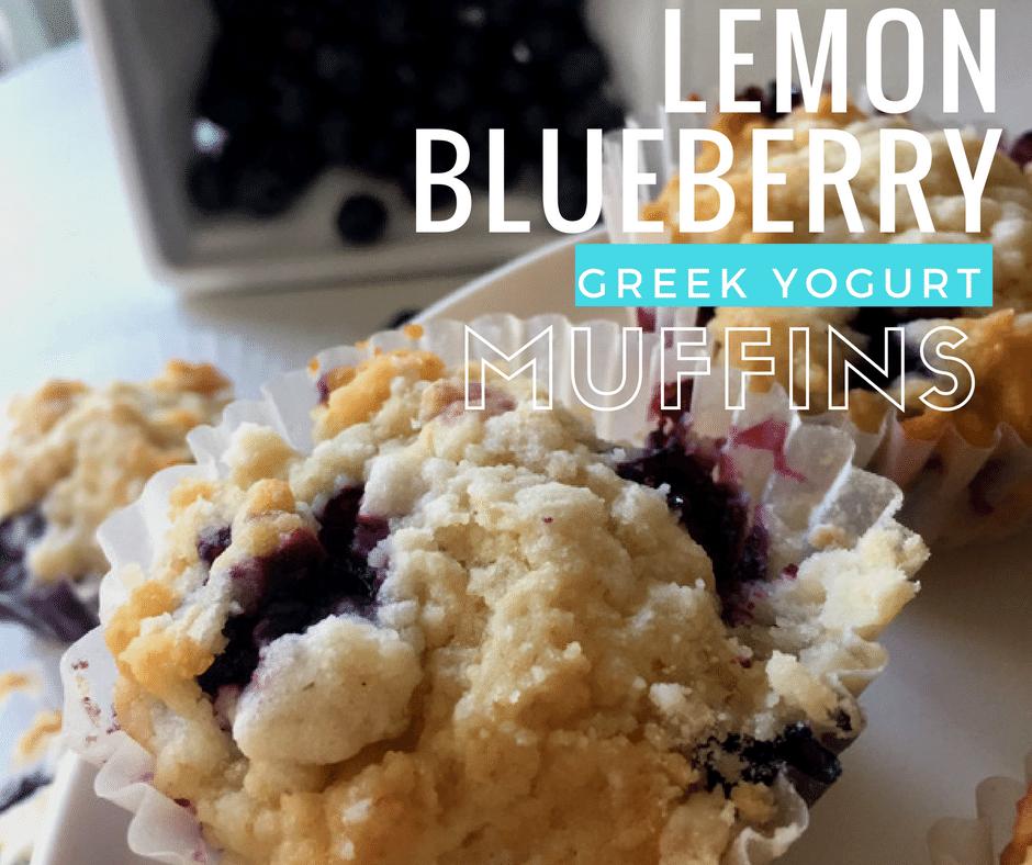 Lemon Blueberry Greek Yogurt Muffins Recipe