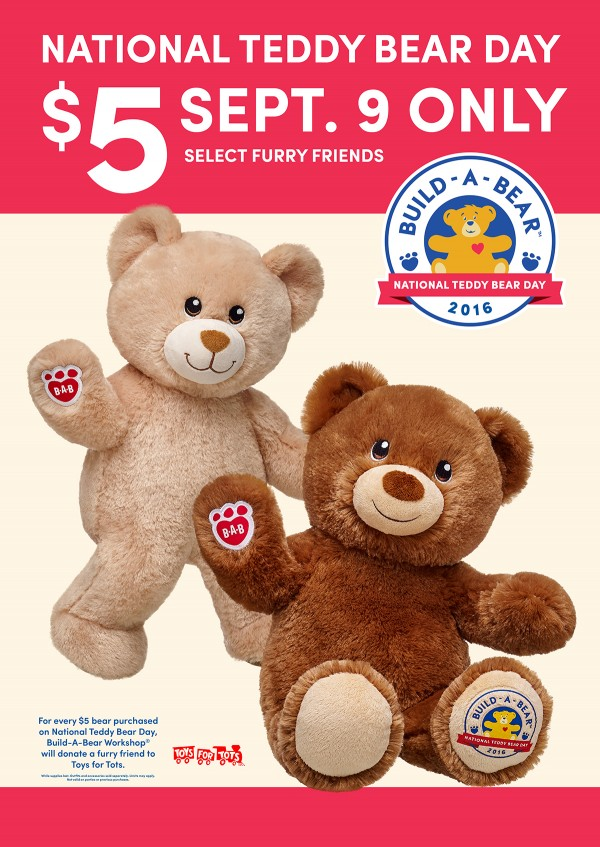 $5 Bears at Build a Bear