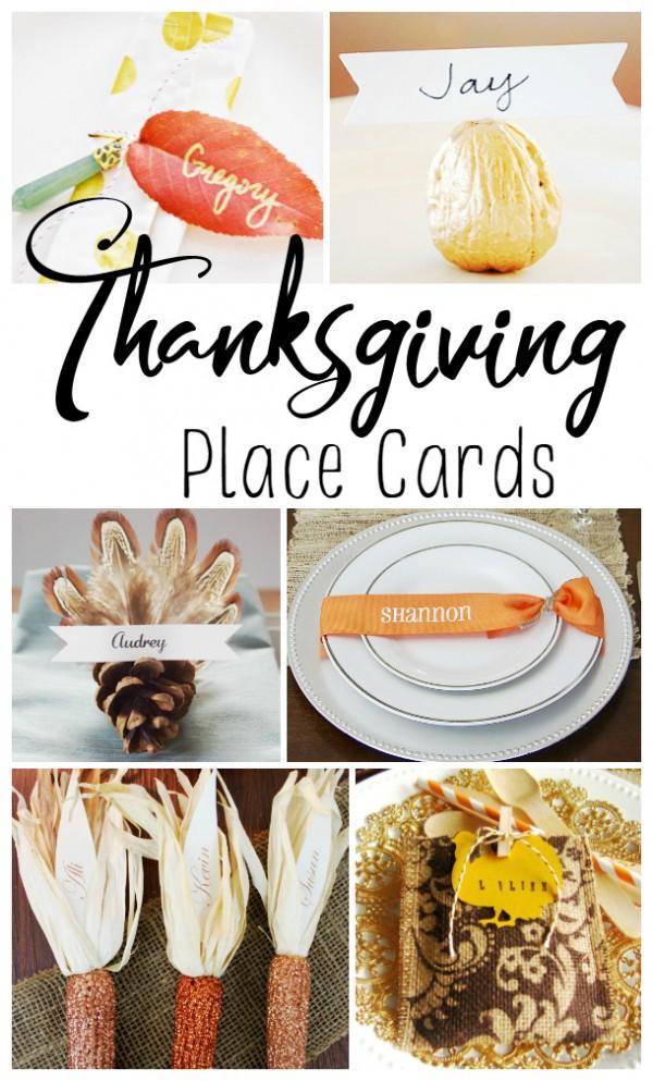 20 Creative Thanksgiving Place Card Ideas
