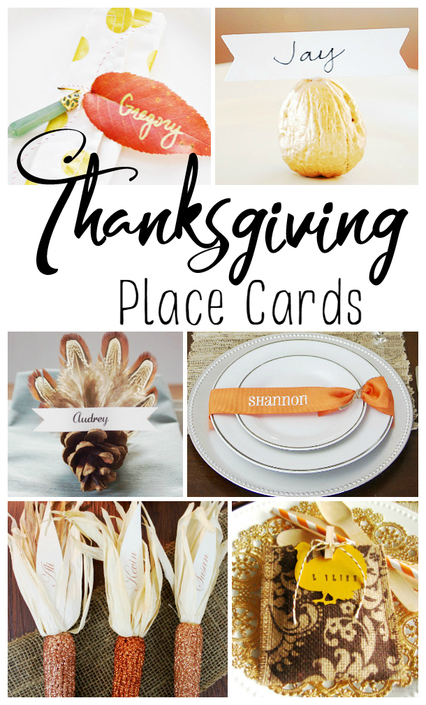 20 Creative Thanksgiving Place Card Ideas Classy Mommy