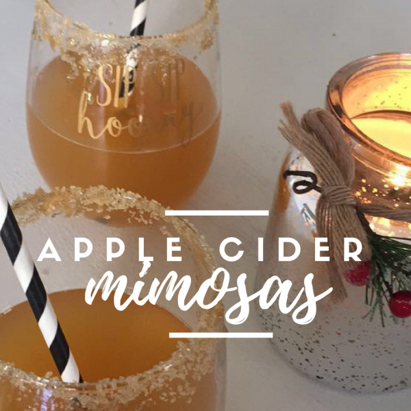 Christmas Apple Cider Mimosas Recipe