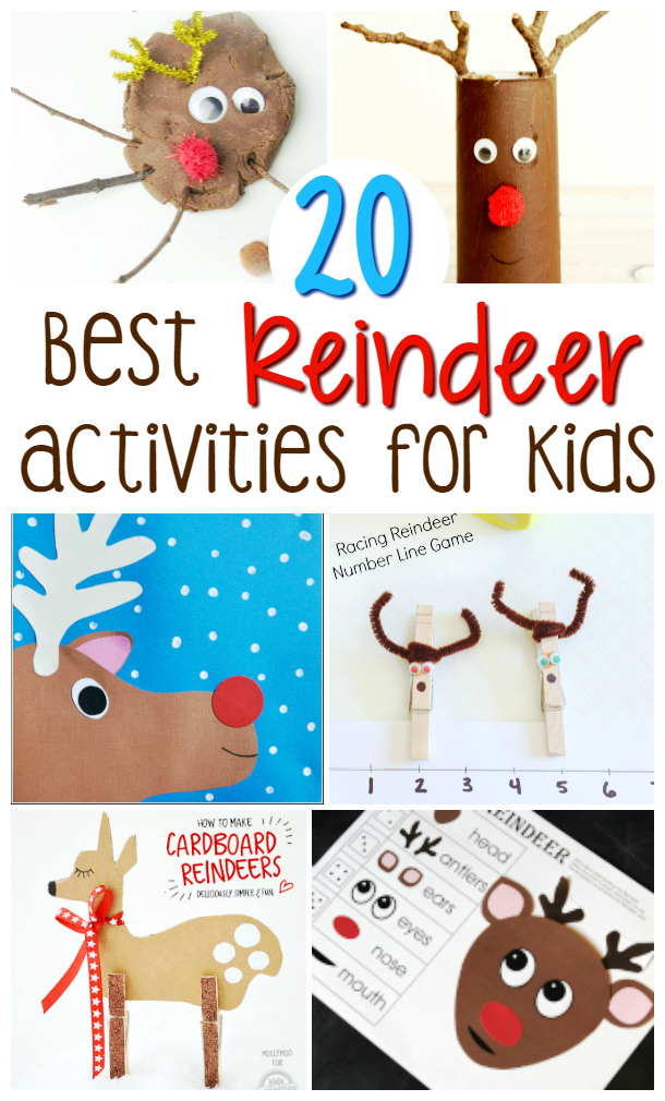 20 best reindeer crafts and activities for kids
