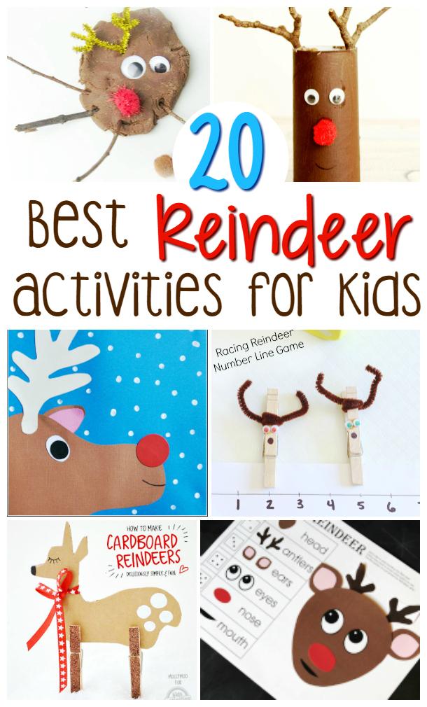 20 best reindeer crafts and activities for kids