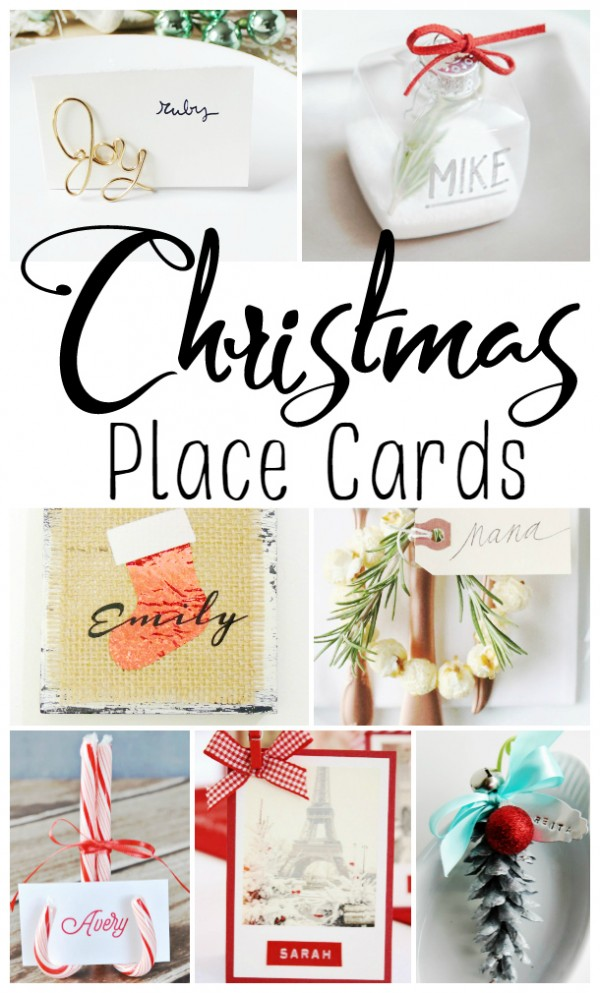 Holiday Table Setting Christmas Place Cards Ideas