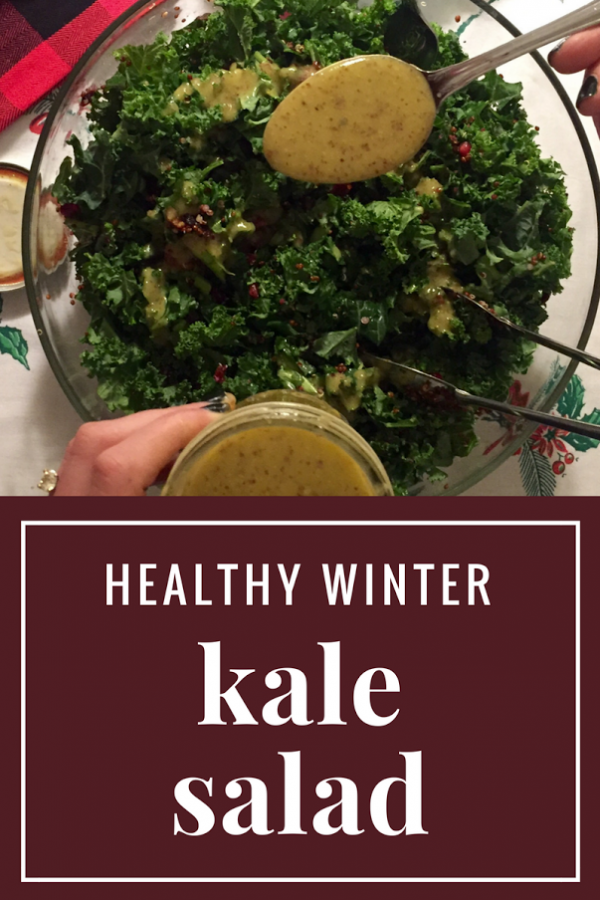 Winter Kale Salad and Sweet Honey Dijon Dressing Recipe