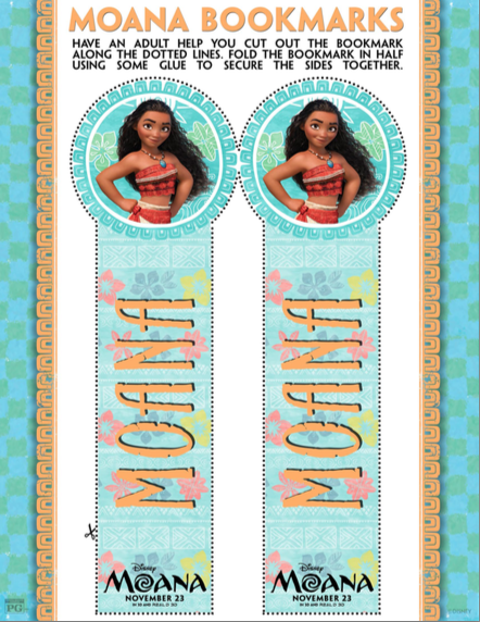 photograph about Moana Sail Printable referred to as Disneys MOANA: Cost-free MOANA Printable Bookmarks - Cly Mommy