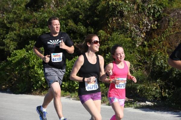 Kenzie Mom running 5K Castaway Cay 2017
