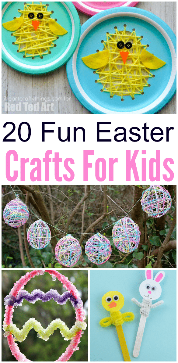 top 20 fun easter crafts for kids classy mommy