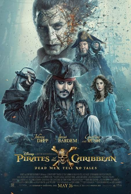 PIRATES OF THE CARIBBEAN: DEAD MEN TELL NO TALES New Trailer and Poster
