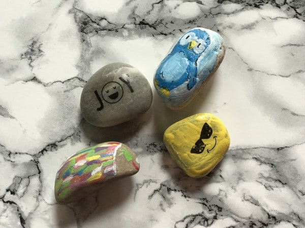 Rock Painting to Spread Positivity and Joy