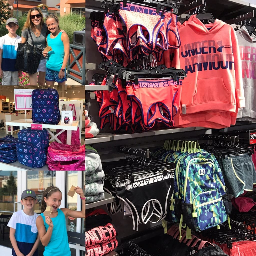 Video Back to School Shopping Haul at Philadelphia Premium Outlets