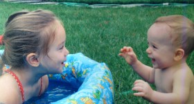baby pool kenzie and kyle cute