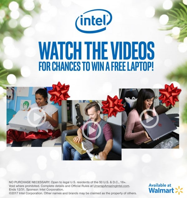 watch videos to win a free laptop