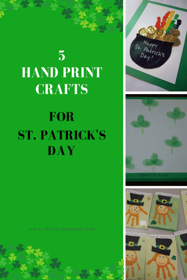 5 Easy Hand Print St. Patrick's Day Crafts for Kids