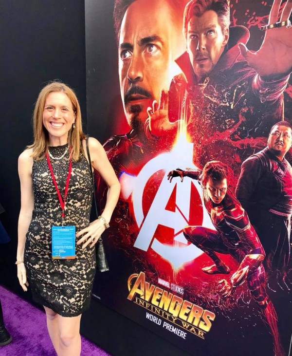Avengers INfinity War purple carpet photo