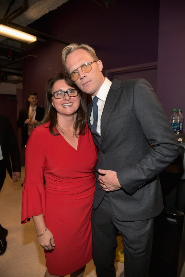 Executive producer Victoria Alonso and actor Paul Bettany attend the Los Angeles Global Premiere for Marvel Studios' Avengers: Infinity War on April 23, 2018 in Hollywood, California. (Photo by Charley Gallay/Getty Images for Disney