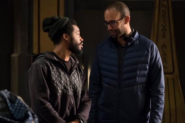 Nate moore on set of Black Panther