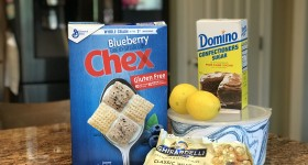 Chex Gluten Free Blueberry Lemon Muddy Buddies