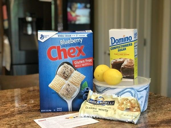 Chex Gluten Free Blueberry Lemon Muddy Buddies