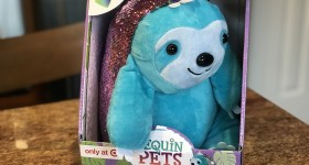 Speedy the Sloth Sequin Pets Available at Target