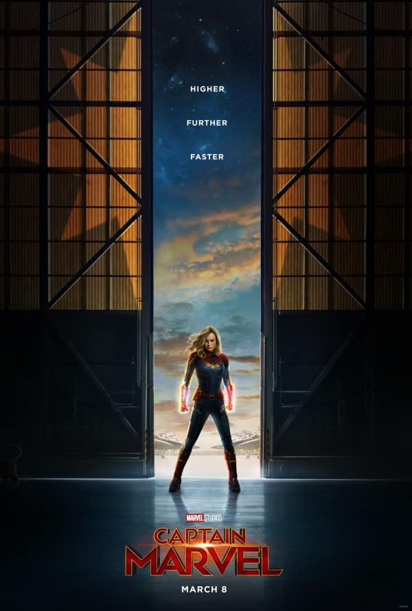 Captain Marvel Movie Posters with Cat