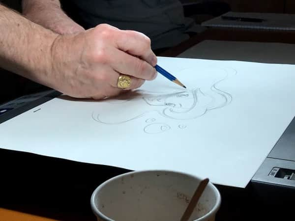 Mark Henn drawing Ariel