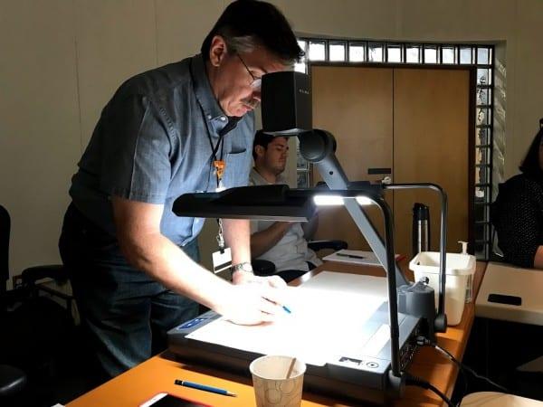 Mark Henn with Pencil