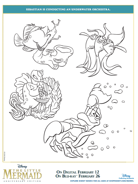 Free Printable Little Mermaid Coloring Pages