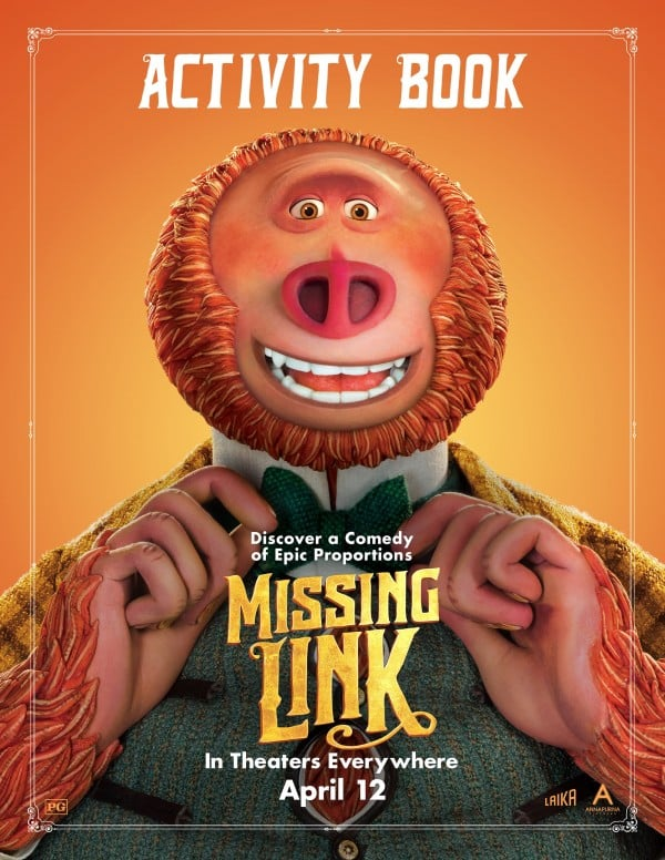 Free Printable Missing Link Coloring Pages and Activity Book